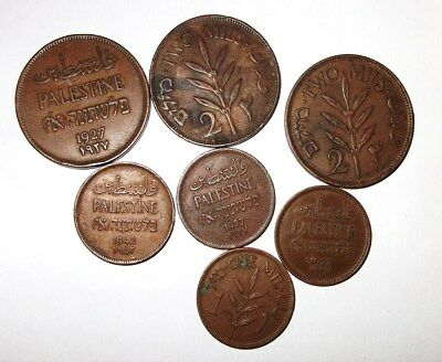 Palestine  Small  Collection  Of  Coins