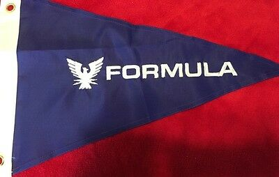 Formula Boat Burgee Pennant Flag Embroidered New