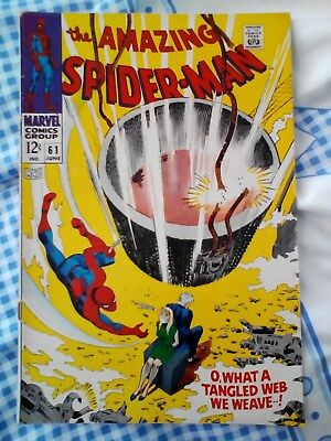 Amazing Spider-Man 61 (1968) , 1st Gwen Stacy cover, Kingpin app, cents