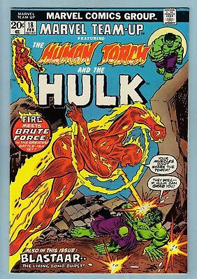 MARVEL TEAM-UP # 18 FNVF (7.0)  HUMAN TORCH & THE HULK- GLOSSY- CENTS- 99p START