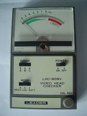 Vhs / Betamax Video Head Checker Lhc - 909B/v With Manual+ Leather Case. Working