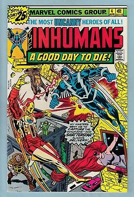Inhumans # 4 Nm- (9.2)  Lovely High Grade - Cents - Tv Series- Hot - White Pages