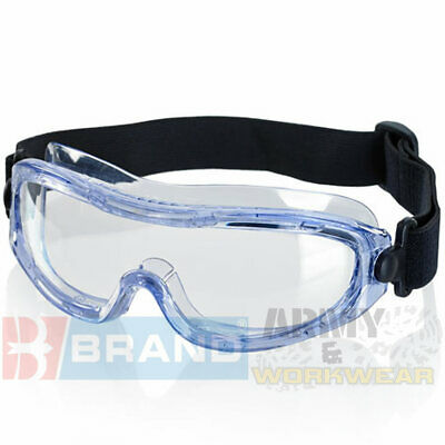 B-Brand Lightweight Narrow Fit Low Profile Safety Work Goggles - Anti Fog Lens