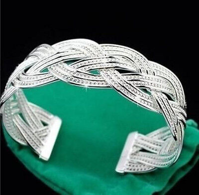 Discount wholesale solid925 silver jewelry  chain Bracelet Bangle gifts