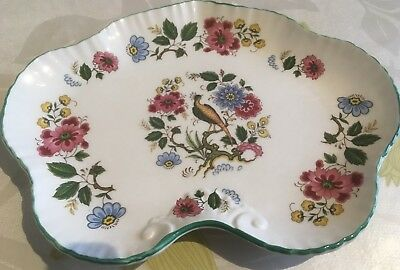 OLD FOLEY DISH   Peacock and Flowers  Excellent condition