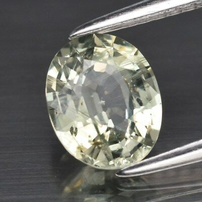 1.44ct 7.5x6mm Oval Natural Unheated Green Sapphire, Madagascar