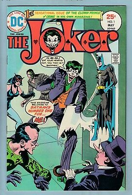 The JOKER # 1 FNVF (6.5/7.0) 1st OWN TITLE - BRIGHT & GLOSSY-  DC - 1975 - CENTS
