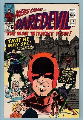 Daredevil # 9 Fnvf (6.5/7.0) Nice Glossy Higher Grade Cents Copy- 1965- Ow/w Pgs