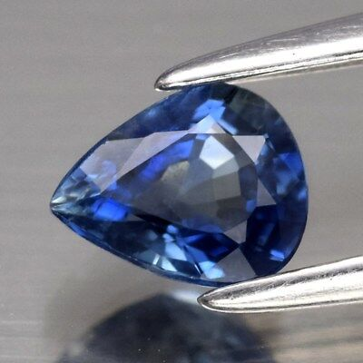 0.64ct 5.6x4.5mm Pear Natural Blue Sapphire Thailand, Heated Only
