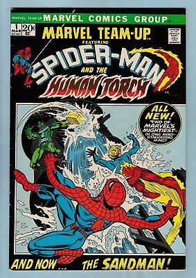 Marvel Team-Up # 1 Fnvf (7.0) Spider-Man- Human Torch- Glossy Cents- White Pages