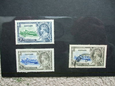 Ceylon Mounted Mint & Used George V Jubilee Stamps 1910-1935