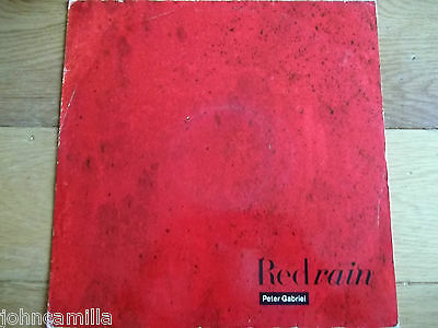 "Peter Gabriel - Red Rain 12"" Record / Vinyl - Virgin - Pgs 4 12"