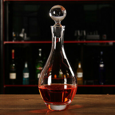 Capacity 900ML Transparent Crystal Glass Red Wine Decanter Container Glassware *