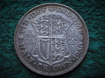 Scarce date . George V , Silver Half Crown 1930 ............................ W13