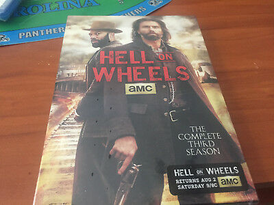 Hell on Wheels: The Complete Third Season (DVD, 2014, 3-Disc Set) NEW