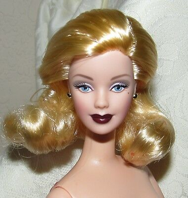 Nude Barbie Doll Hollywood Cast Party Blonde Mackie Blue Eyes For Ooak