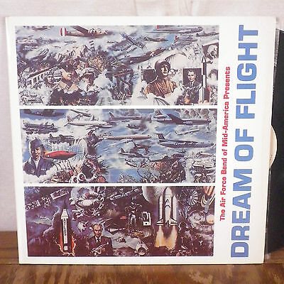 The Air Force Band of Mid America Dream of Flight LP Scott AFB ark clean M-