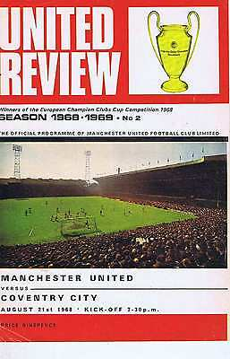 MANCHESTER UNITED	V	COVENTRY CITY	21	Aug	1968	Programme