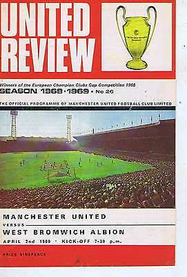 MANCHESTER UNITED	V	WEST BROMWICH	2	Apr	1969