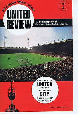 MANCHESTER UNITED	V	LEICESTER CITY	26	Aug	1967	Programme