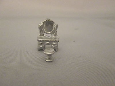 Dollhouse Miniature Unfinished Metal 144th Scale Dressing Vanity w/stool