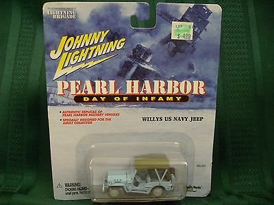 Johnny Lightning Pearl Harbor Willys US Navy Jeep Light Blue Toy 1:64 NOS RARE