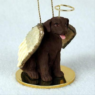 Labrador Retriever Chocolate Lab Dog ANGEL Tiny One Ornament Figurine Statue