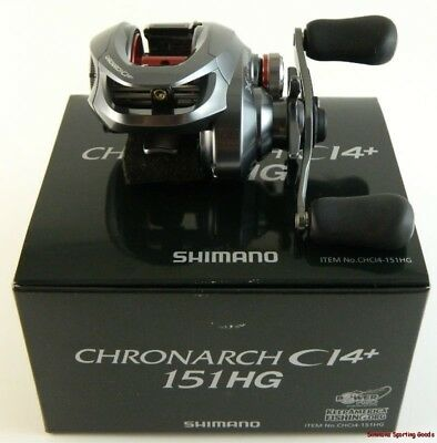 *shimano Chronarch Ci4+ 151Hg Chci4-151Hg 7.6:1 Ratio Left Hand Baitcast Reel