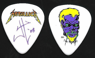 Metallica-James Hetfield-World Tour-Cartoon Face Guitar Pick-Rare