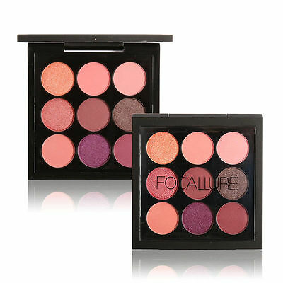 New 9 Color Eye Shadow Makeup Cosmetic Shimmer Matte Eyeshadow Palette Set Kit