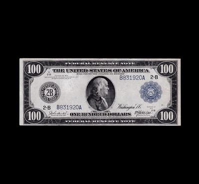 Incredible 1914 $100 Fed Reserve Strong Very Fine