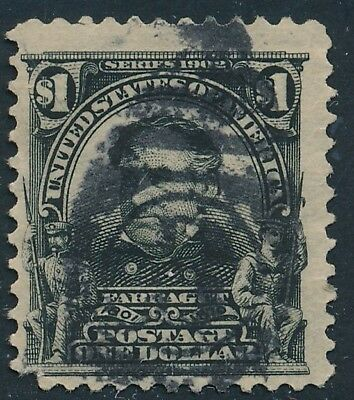 Dr Jim Stamps Us Scott 311 $1 Farragut Used No Reserve Free Shipping
