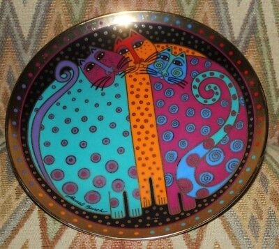 Laurel Burch Collector Plate 1996 Freckled Felines  8 in Cat Lovers Franklin