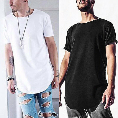 Fashion men hip hop t shirt with thumb hole cuff street for Mens shirts with cufflink holes
