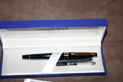 Vintage Waterman Expert Blue & Gold Fountain Pen - Old Style - In Original Box