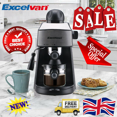 Excelvan 3.5 Bar Steam Espresso Machine Cappuccino Latte Coffee Maker 4-Cup 800W