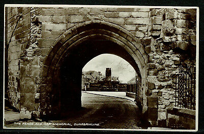 Early Real Photo Postcard - The Pends & War Memorial Dunfermline Fife Scotland