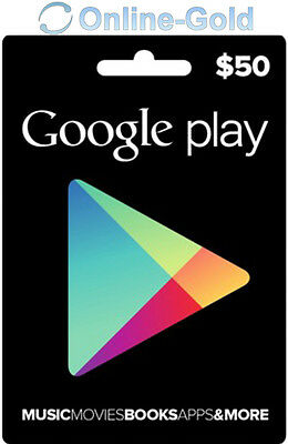 Google Play Card 50 US Dollar - $50 USD Gift Code USA Android Store Gutschein US
