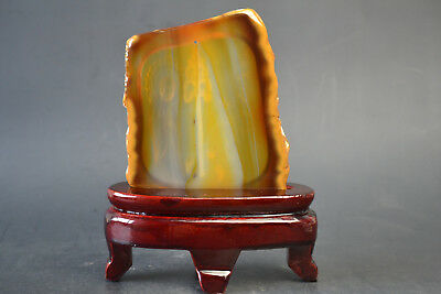 China Collectible Old Natural Agate Carved Buddha Lucky Peace rare Statue