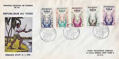 Togo 1959 First Series FDC VGC