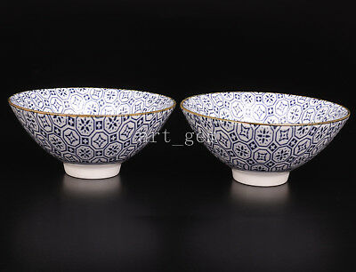 Authentic Chinese Blue White Porcelain Bowl Collectable Porcelain Elegant Handic