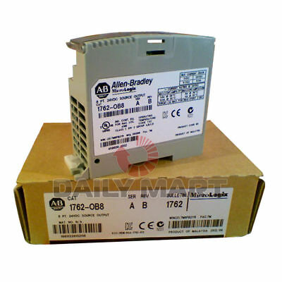 Allen-Bradley Ab 1762-Ob8 Micrologix 8-Point Digital Output Plc Module 24Vdc New