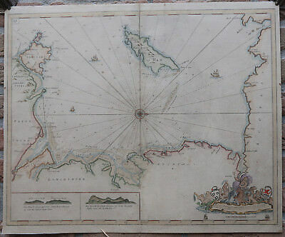 Antique Print-SEA CHART-NAUTICAL-IRISH SEA-ISLE OF MAN-Collins-1693