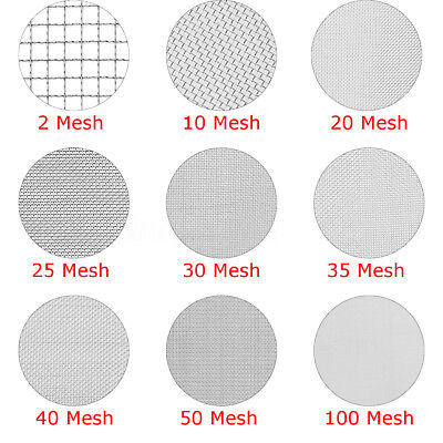 2 to 100 Mesh Woven Wire 304 Stainless Steel Filtration Grill Sheet Filter