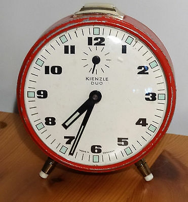 Mechanischer Kienzle DUO Wecker shabby chic vintage alarm clock made in Germany