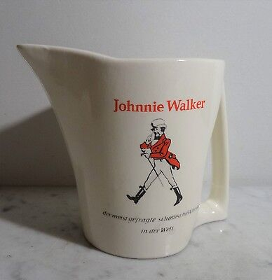 vintage ice pitcher 60's - Ältere Jonnie Walker Whiskey Keramik Kanne Krug ~60er