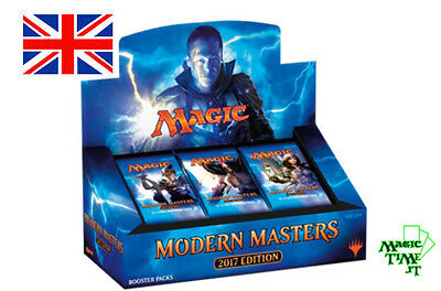 BOX 24 Buste Magic MODERN MASTERS 2017 ENG Nuovo Mtg Magic Sealed Booster MM3