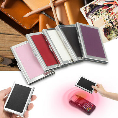 Stainless Steel Business Name Card Case Metal ID Credit Wallet Pocket Holder Box