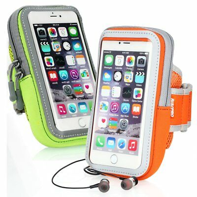 Iphone 7 plus Sports Armband Touchscreen (Pack of 2 - Green & Orange)