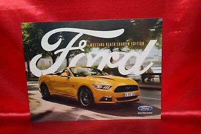 ford mustang black shadow edition prospekt brochure. Black Bedroom Furniture Sets. Home Design Ideas